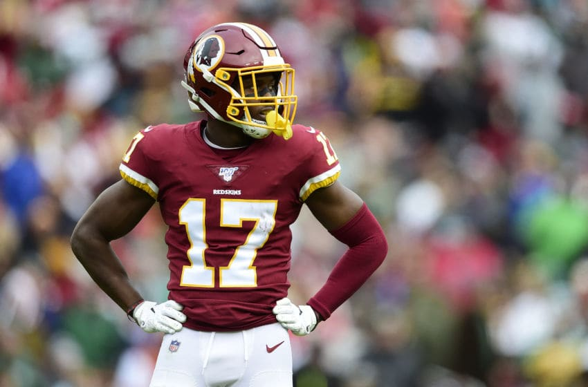 LANDOVER, MD - NOVEMBER 17: Terry McLaurin #17 of the Washington Redskins in action in the first half against the New York Jets at FedExField on November 17, 2019 in Landover, Maryland. (Photo by Patrick McDermott/Getty Images)