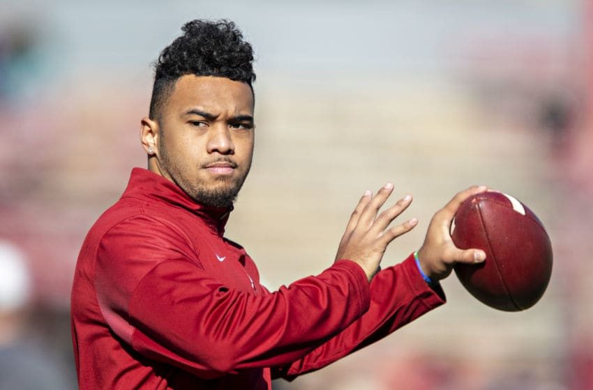 Tua Tagovailoa, Alabama Crimson Tide. (Photo by Wesley Hitt/Getty Images)
