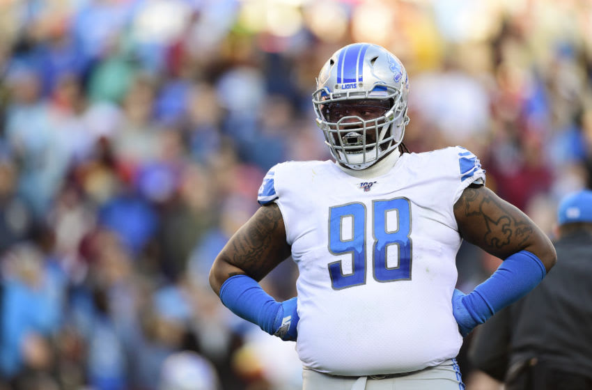LANDOVER, MD - NOVEMBER 24: Damon Harrison #98 of the Detroit Lions in action in the second half against the Washington Redskins at FedExField on November 24, 2019 in Landover, Maryland. (Photo by Patrick McDermott/Getty Images)