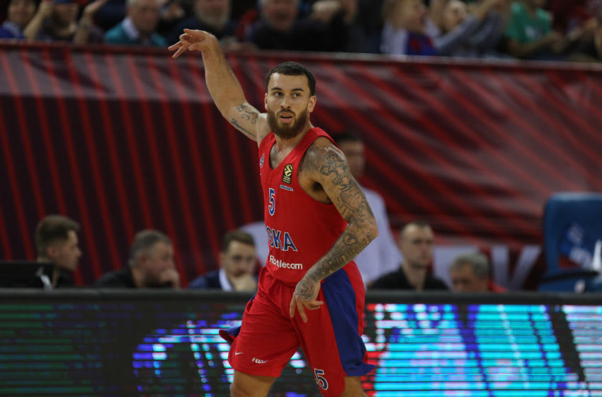 Mike James, #5 of CSKA Moscow in action during the 2019/2020 Turkish Airlines EuroLeague Regular Season (Photo by Mikhail Serbin/Euroleague Basketball via Getty Images)