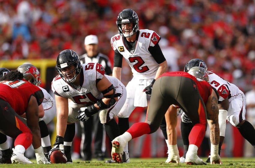 Matt Ryan, Atlanta Falcons, Tampa Bay Buccaneers. (Photo by Michael Reaves/Getty Images)