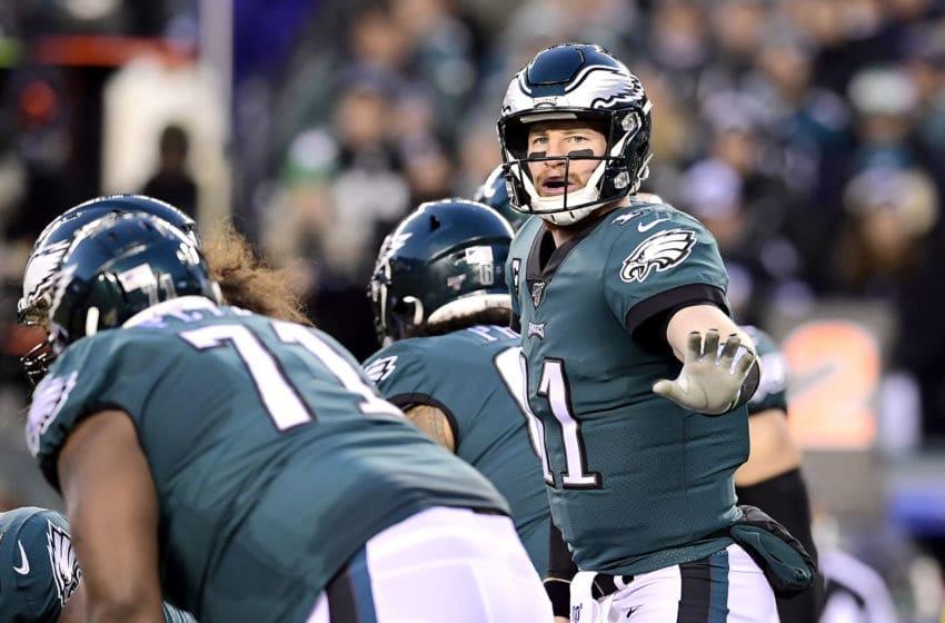 Carson Wentz, Philadelphia Eagles. (Photo by Steven Ryan/Getty Images)