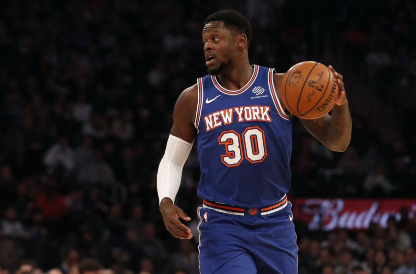 Julius Randle #30 of the New York Knicks in action against the Portland Trail Blazers(Photo by Jim McIsaac/Getty Images)