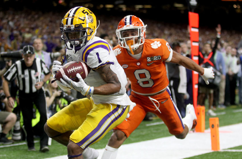 Ja'Marr Chase, LSU Tigers. (Photo by Chris Graythen/Getty Images)