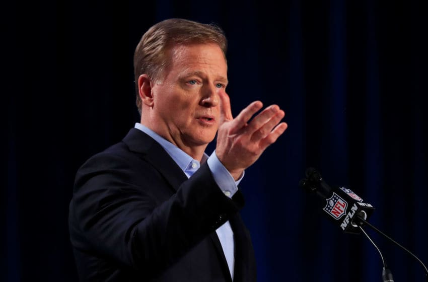 Roger Goodell, NFL. (Photo by Cliff Hawkins/Getty Images)