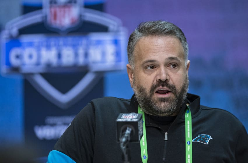 Matt Rhule, Carolina Panthers. (Photo by Michael Hickey/Getty Images)