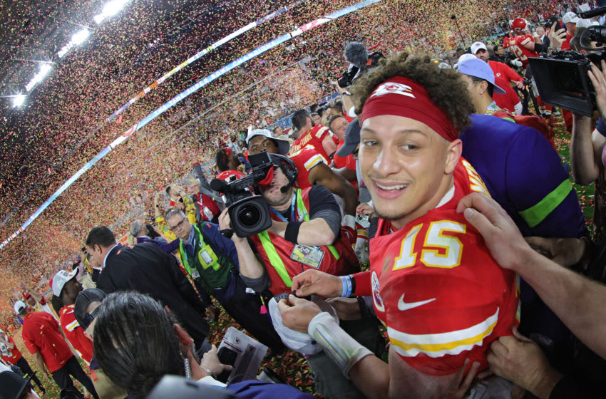 Patrick Mahomes, Kansas City Chiefs. (Photo by Tom Pennington/Getty Images)