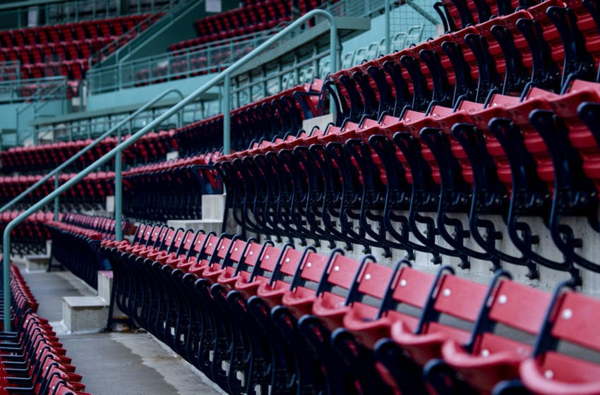BOSTON, MA - APRIL 2: Empty seats are shown as the sun rises over Fenway Park on what would have been the home opening day for the Boston Red Sox against the Chicago White Sox at Fenway Park on April 2, 2020 at Fenway Park in Boston, Massachusetts. The game was postponed due to the coronavirus pandemic. (Photo by Billie Weiss/Boston Red Sox/Getty Images)