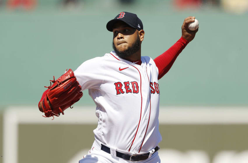 FORT MYERS, FLORIDA - FEBRUARY 29: Eduardo Rodriguez #57 of the Boston Red Sox delivers a pitch against the New York Yankees during the second inning of a Grapefruit League spring training game at JetBlue Park at Fenway South on February 29, 2020 in Fort Myers, Florida. (Photo by Michael Reaves/Getty Images)