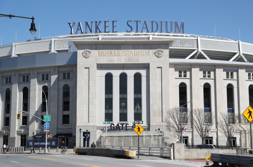 BRONX, NEW YORK - MARCH 26: Yankee Stadium is empty on the scheduled date for Opening Day March 26, 2020 in the Bronx, New York. Major League Baseball has postponed the start of its season due to the coronavirus (COVID-19) outbreak and MLB commissioner Rob Manfred recently said the league is