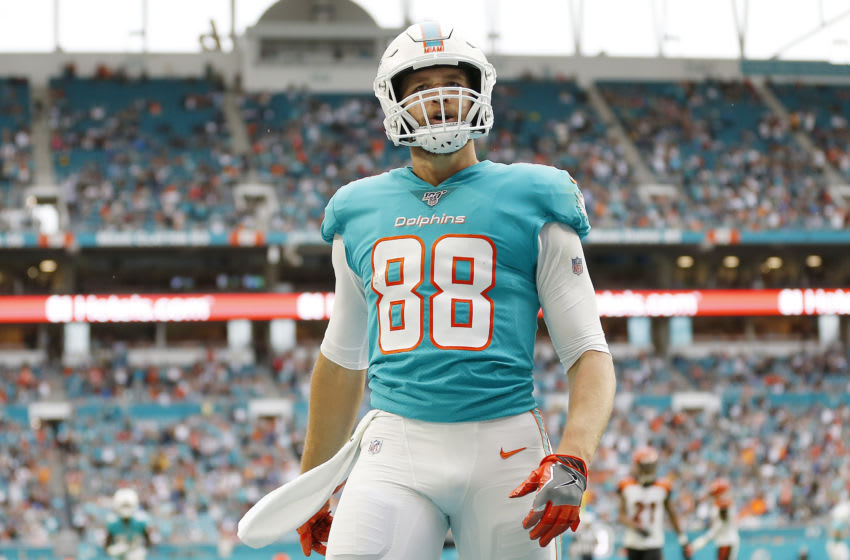 Mike Gesicki, Miami Dolphins. (Photo by Michael Reaves/Getty Images)