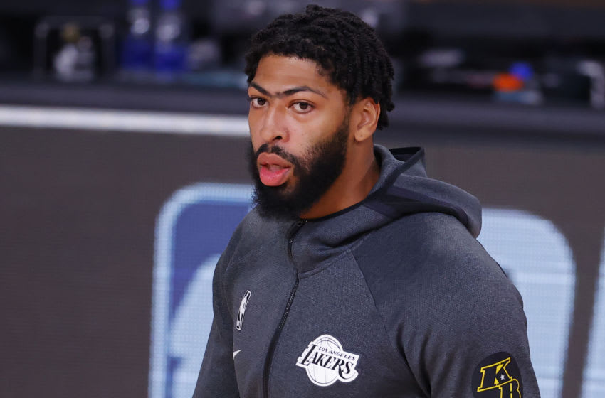 Anthony Davis, #3, Los Angeles Lakers, (Photo by Kevin C. Cox/Getty Images)