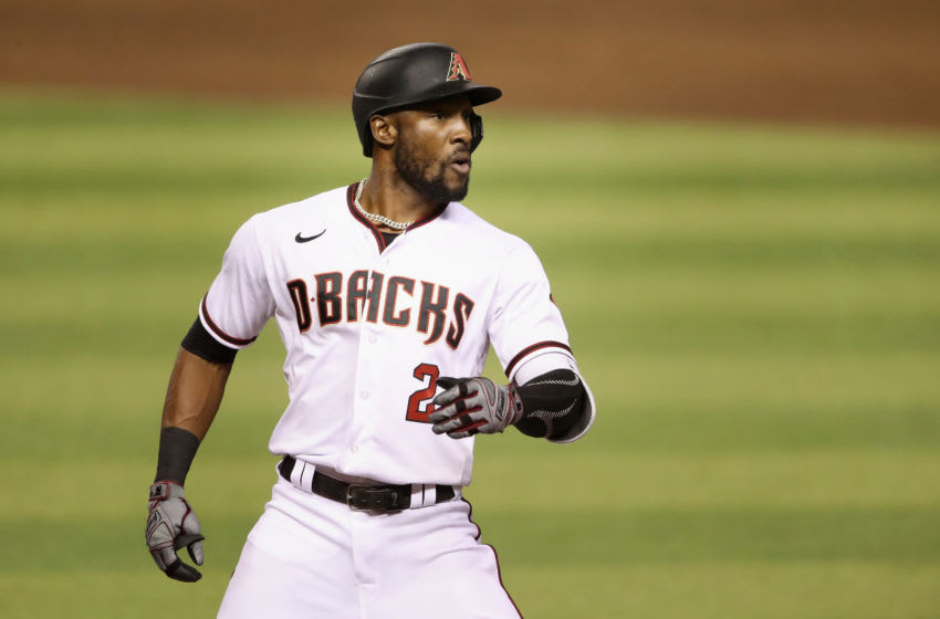 Starling Marte #2 of the Arizona Diamondbacks during the MLB game against the Colorado Rockies at Chase Field on August 24, 2020 in Phoenix, Arizona. The Rockies defeated the Diamondbacks 3-2. (Photo by Christian Petersen/Getty Images)