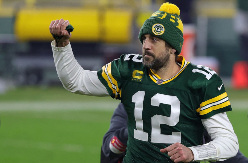 Aaron Rodgers, Green Bay Packers. (Photo by Stacy Revere/Getty Images)