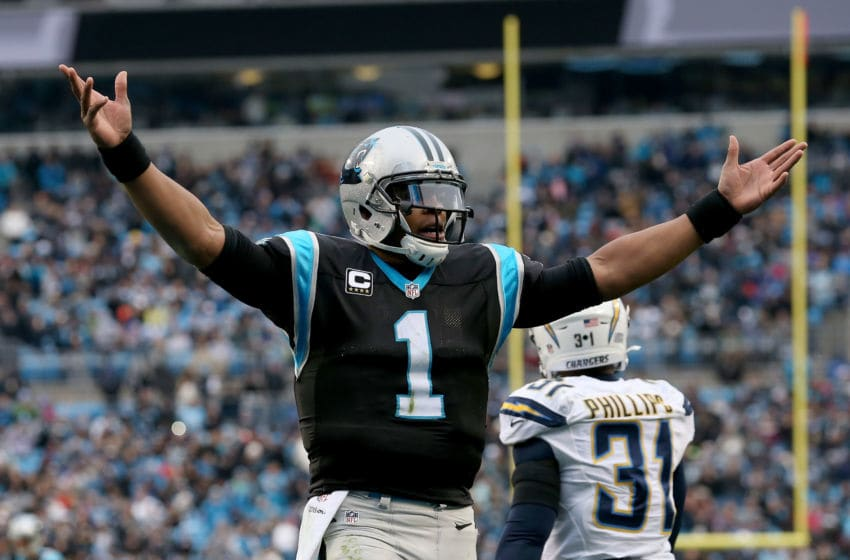 Cam Newton, Carolina Panthers, Los Angeles Chargers. (Photo by Streeter Lecka/Getty Images)