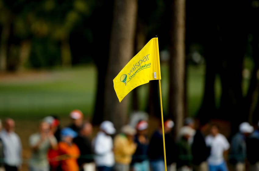 PALM HARBOUR, FL - 08 mars: une vue générale du drapeau lors de la première manche du championnat Valspar à Innisbrook Resort Copperhead Course le 8 mars 2018 à Palm Harbor, en Floride. (Photo de Michael Reaves / Getty Images)