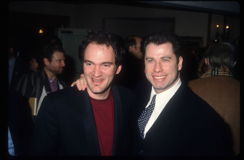 208772 02: Director Quentin Tarantino and actor John Travolta stand at the Los Angeles Film Critics Awards January 17, 1995 in Los Angeles, CA. Celebrities and critics gathered at the ceremony to celebrate this year's winners, including Travolta and Tarantino for their work on