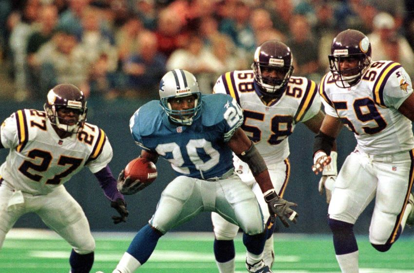 Barry Sanders, (JEFF KOWALSKY/AFP/Getty Images)