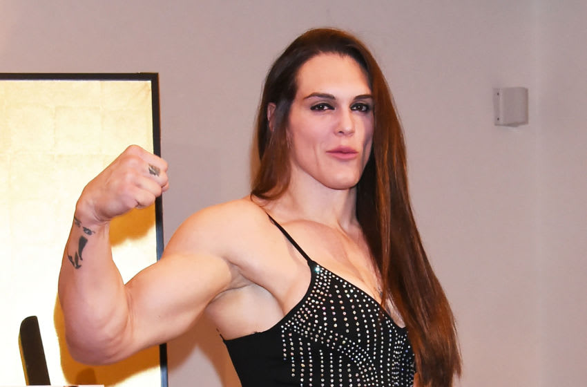 TOKYO, JAPAN - DECEMBER 29: Gabi Garcia attends the press conference for the Rizin Fighting Federation match at the Westin Hotel on December 29, 2018 in Tokyo, Japan. (Photo by Jun Sato/Getty Images)