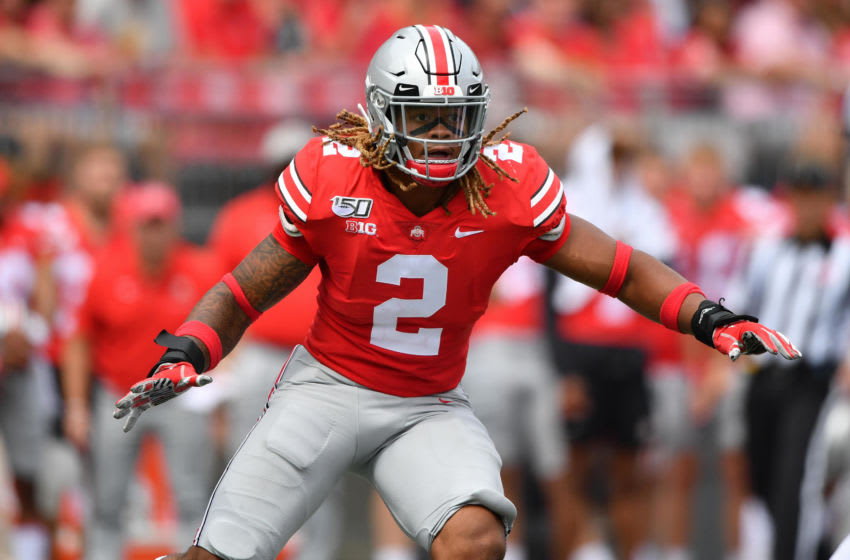 COLUMBUS, OH - AUGUST 31: Chase Young #2 of the Ohio State Buckeyes chases down the ballcarrier against the Florida Atlantic Owls at Ohio Stadium on August 31, 2019 in Columbus, Ohio. (Photo by Jamie Sabau/Getty Images)