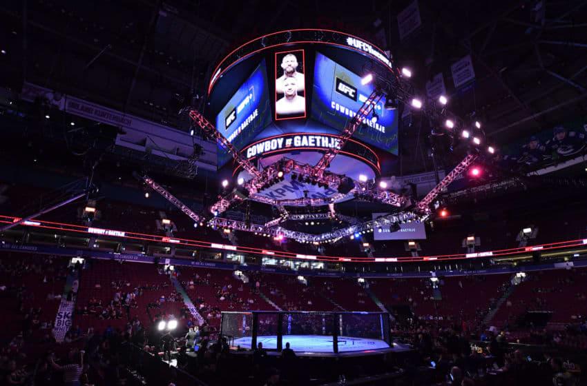 VANCOUVER, COLOMBIE-BRITANNIQUE - 14 SEPTEMBRE: Une vue générale de l'Octogone avant l'événement UFC Fight Night à Rogers Arena le 14 septembre 2019 à Vancouver, Canada. (Photo de Jeff Bottari / Zuffa LLC / Zuffa LLC)