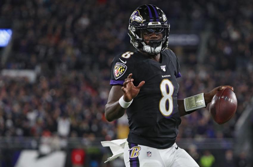 Lamar Jackson, Baltimore Ravens. (Photo by Todd Olszewski/Getty Images)
