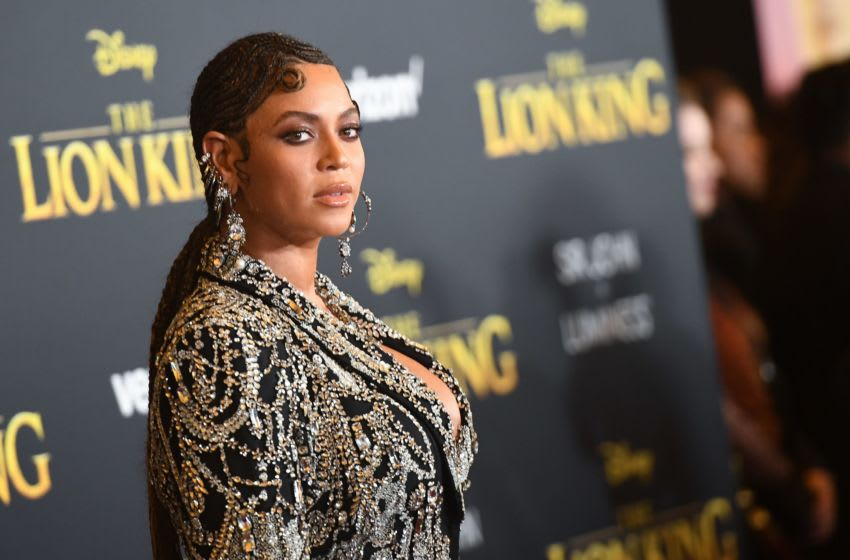 US singer/songwriter Beyonce arrives for the world premiere of Disney's