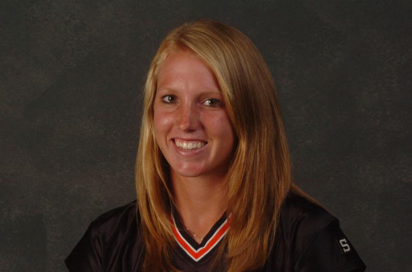 Alyssa Nakken in 2007 as an All-Metro Softball selection from Woodland High School in Sacramento, Calif. (Renee T. Bonnafon/Sacramento Bee/Tribune News Service via Getty Images)