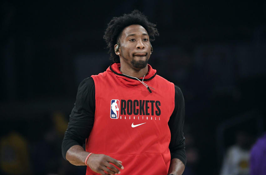 LOS ANGELES, CA - FEBRUARY 06: Robert Covington #33 of the Houston Rockets, formerly of the Minnesota Timberwolves, warms up before the game against the Los Angeles Lakers at Staples Center on February 6, 2020 in Los Angeles, California. NOTE TO USER: User expressly acknowledges and agrees that, by downloading and/or using this Photograph, user is consenting to the terms and conditions of the Getty Images License Agreement. (Photo by Kevork Djansezian/Getty Images)