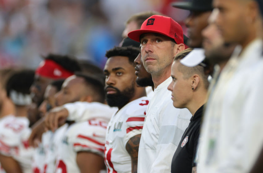 49ers Head coach Kyle Shanahan (Photo by Jamie Squire/Getty Images)