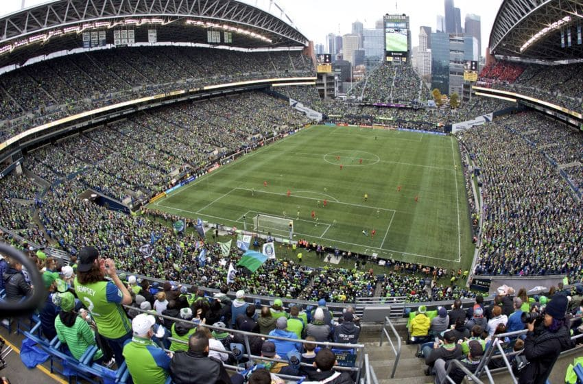 SEATTLE, WA - NOVEMBER 10: General view of the during the first half during a game between Toronto FC and Seattle Sounders FC at CenturyLink Field on November 10, 2019 in Seattle, Washington. (Photo by Craig Mitchelldyer/ISI Photos/Getty Images)