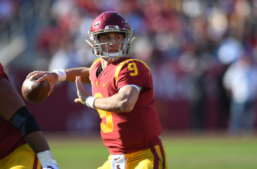 Kedon Slovis #9 of the USC Trojans (Photo by Jayne Kamin-Oncea/Getty Images)