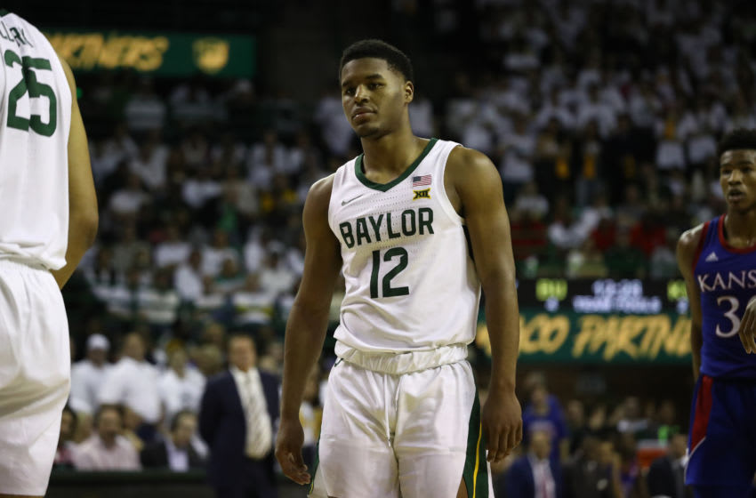 WACO, TEXAS - FEBRUARY 22: Jared Butler #12 of the Baylor Bears in the first half at Ferrell Center on February 22, 2020 in Waco, Texas. (Photo by Ronald Martinez/Getty Images)