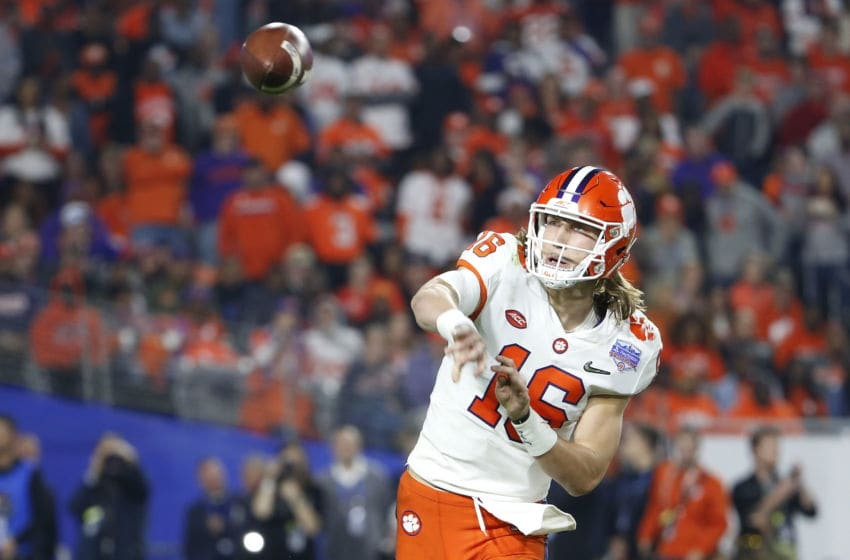 Trevor Lawrence #16 of the Clemson Tigers (Photo by Ralph Freso/Getty Images)