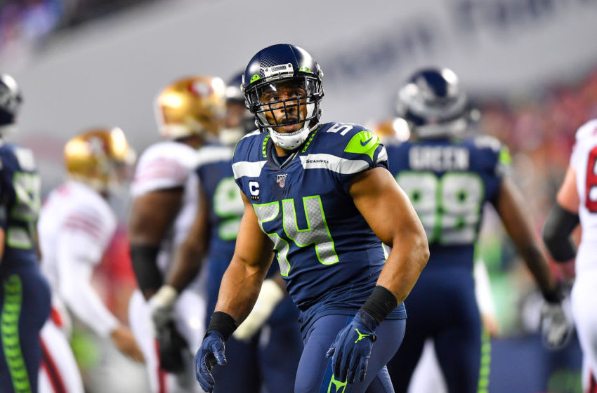 SEATTLE, WASHINGTON - DECEMBER 29: Bobby Wagner #54 of the Seattle Seahawks looks at the scoreboard after a San Francisco 49ers field goal in the second quarter of the game at CenturyLink Field on December 29, 2019 in Seattle, Washington. The San Francisco 49ers top the Seattle Seahawks 26-21. (Photo by Alika Jenner/Getty Images)