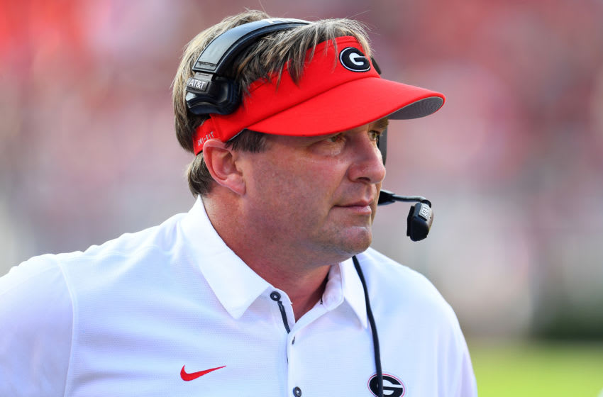 Kirby Smart, Georgia Bulldogs. (Photo by Scott Cunningham/Getty Images)