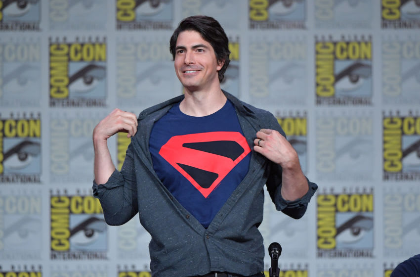 SAN DIEGO, CALIFORNIA - JULY 20: Brandon Routh speaks at the