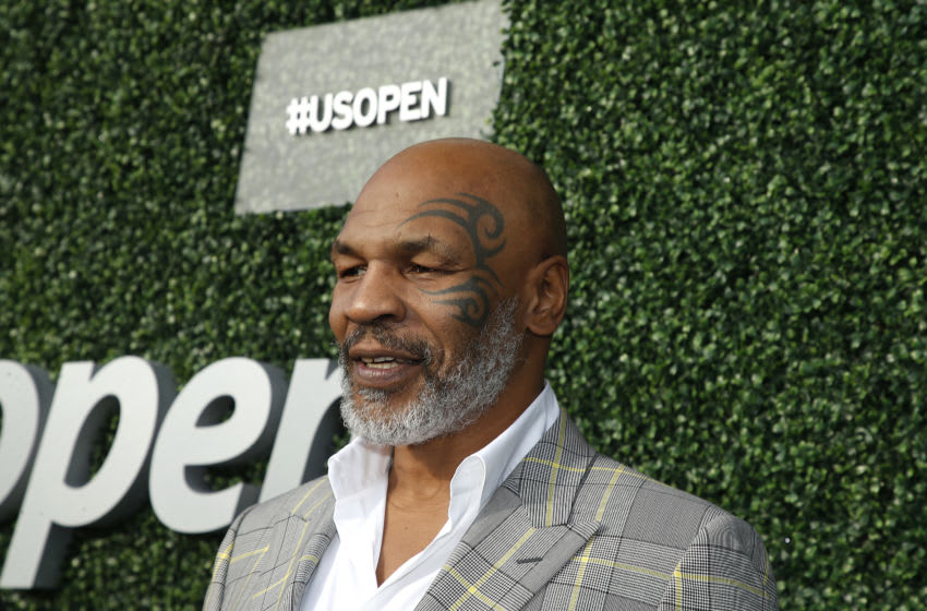 Former heavy weight boxer Mike Tyson attends USTA 19th Annual Opening Night Gala Blue Carpet. (Photo by John Lamparski/Getty Images)