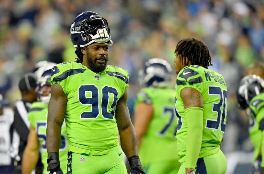Jadeveon Clowney #90 and Bradley McDougald #30 of the Seattle Seahawks (Photo by Alika Jenner/Getty Images)