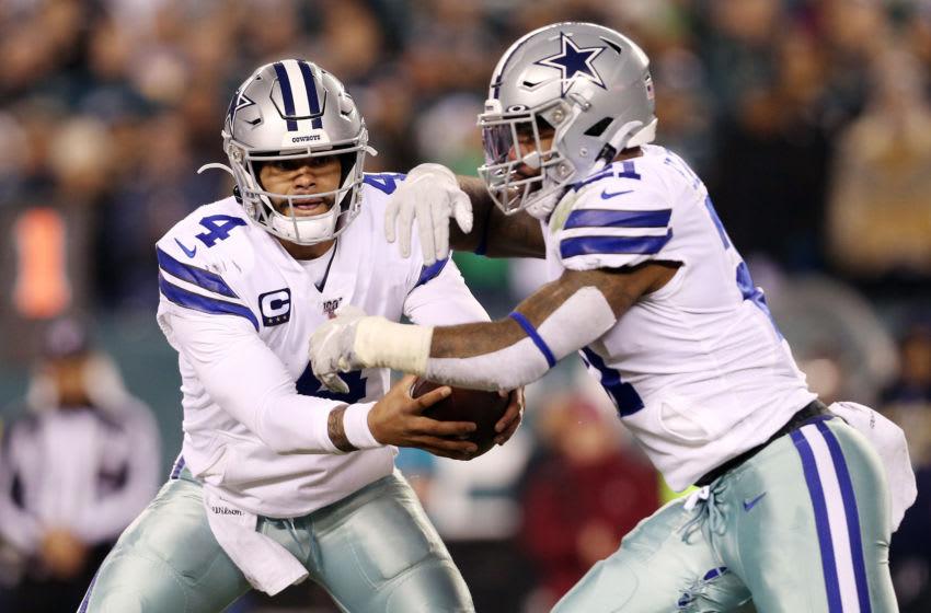 Dak Prescott, #4, Dallas Cowboys, Ezekiel Elliott, #21, (Photo by Patrick Smith/Getty Images)