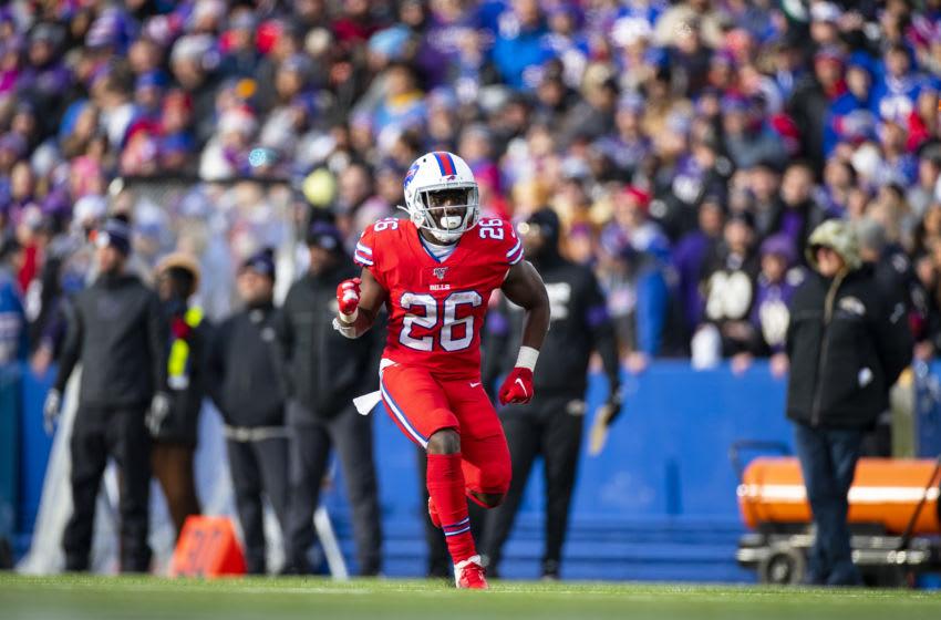 Devin Singletary, #26, Buffalo Bills, (Photo by Brett Carlsen/Getty Images)