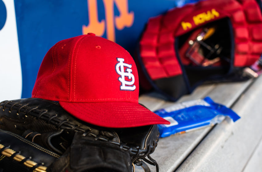 NEW YORK - JUNE 14: A general view of the St. Louis Cardinals dugout during the game against the New York Mets at Citi Field on June 14, 2019 in the Queens borough of New York City. (Photo by Rob Tringali/SportsChrome/Getty Images)