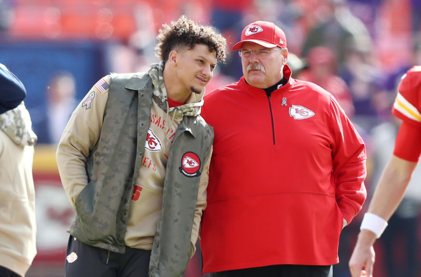 Andy Reid, Patrick Mahomes, Kansas City Chiefs. (Photo by Jamie Squire/Getty Images)