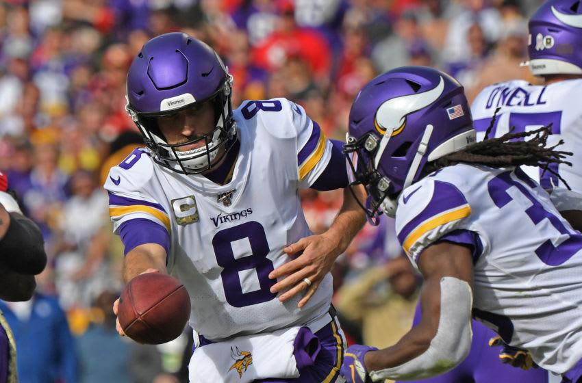 Kirk Cousins, Dalvin Cook, Minnesota Vikings. (Photo by Peter G. Aiken/Getty Images)