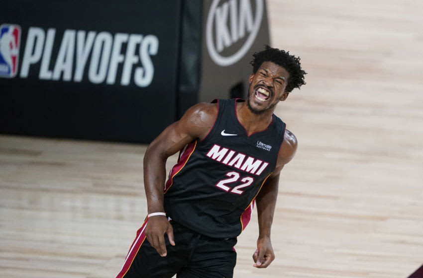Jimmy Butler, #22, Miami Heat, (Photo by Ashley Landis-Pool/Getty Images)