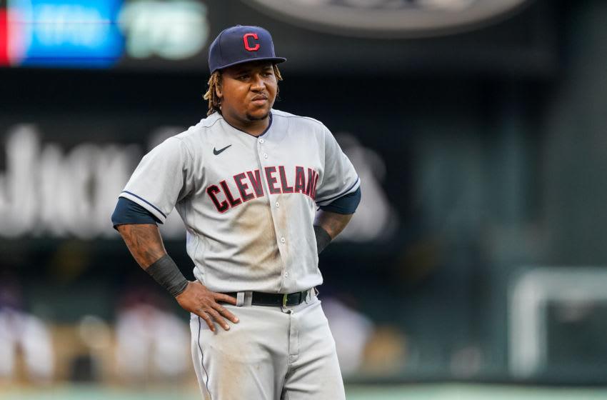 Jose Ramirez, Cleveland Indians. (Photo by Brace Hemmelgarn/Minnesota Twins/Getty Images)