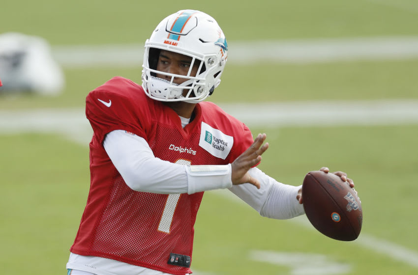 Tua Tagovailoa, Miami Dolphins. (Photo by Michael Reaves/Getty Images)