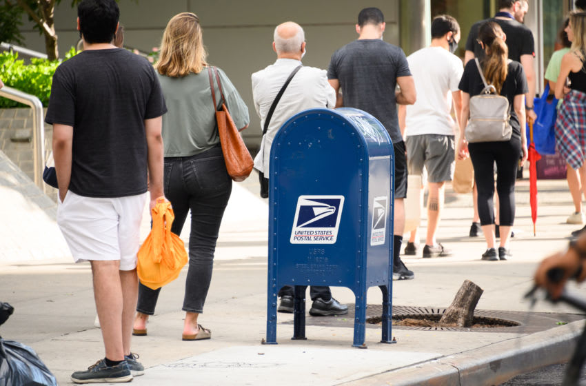 USPS mailbox (Photo by Noam Galai/Getty Images)