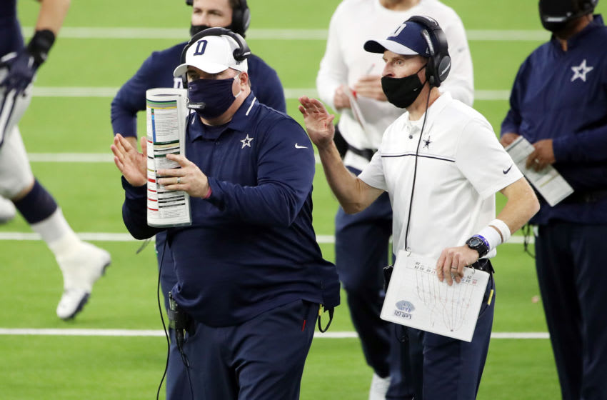 Mike McCarthy, John Fassel, Dallas Cowboys. (Photo by Katelyn Mulcahy/Getty Images)