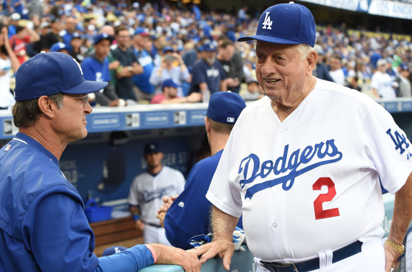 LOS ANGELES, CA - MAY 16: Tommy Lasorda, Los Angeles Dodgers (Photo by Lisa Blumenfeld/Getty Images)